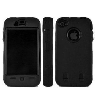 SODIAL(TM) Black Rugged Hard Dual Layer Case for Apple iPhone 4 Cell Phones & Accessories