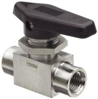 "Parker MB Series Stainless Steel 316 Ball Valve, Inline, 1/2"" NPT Female Industrial Ball Valves"