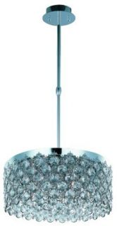 ET2 E21155 20PC Dazzle 5 Light Pendant, Polished Chrome   Ceiling Pendant Fixtures
