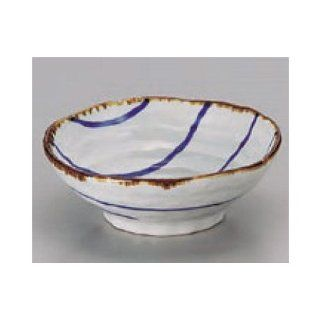 bowl kbu074 01 742 [5.12 x 1.89 inch] Japanese tabletop kitchen dish Small bowl large Banko stripe round small bowl [13x4.8cm] restaurant restaurant business for Japanese inn kbu074 01 742 Kitchen & Dining