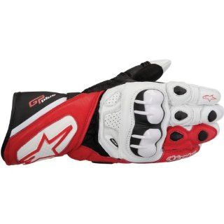Alpinestars GP Plus Gloves , Gender Mens/Unisex, Distinct Name White/Red/Black, Primary Color White, Size 2XL, Apparel Material Leather 3556513 231 2XL Automotive