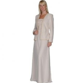 Mother of Bride Groom Evening Dress by Sean Collection (7257), 6, Champagne