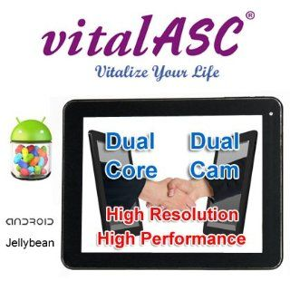 "vitalASC 8"" ARM A9 1.5Ghz Dual Core, DDR3 1GB, 12GB storage, 1024 TFT, Dual Camera, Multi touch Screen and Android 4.1 Jelly Bean  Tablet Computers  Computers & Accessories"