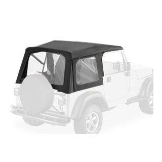 Bestop® 51709 35 Black Diamond Supertop® Classic Replacement Soft Top with Tinted windows  No doors included   1997 2006 Jeep Wrangler (except Unlimited) Automotive