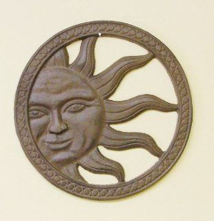 Cast Iron Sun Face Wall D�cor   Decorative Plaques