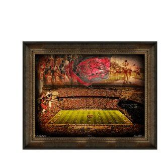 "South Carolina Gamecocks Artwork ""Gamecocks"" 30""x40"" Framed Canvas  Sports Fan Prints And Posters  Sports & Outdoors"