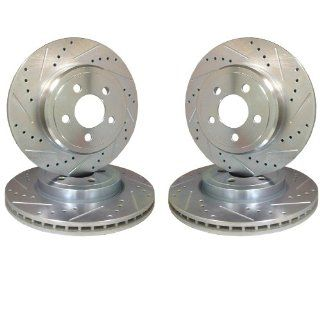 Emil Performance Emil4Ds386 Cross Drilled And Slotted Brake Rotors Dodge Neon Srt 4 Automotive