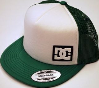 DC Shoes Green White Trucker Mesh Adjustable Snapback Hat Cap at  Men�s Clothing store Baseball Caps