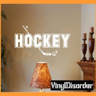 Hockey Hockey Stick Sports Vinyl Wall Decal Sticker Mural Quotes Words Sp009hockeyv   Wall Decor Stickers