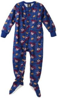 NFL Infant/Toddler Boys' New York Giants Blanket Sleeper (Blue, 2T)  Infant And Toddler Apparel  Clothing