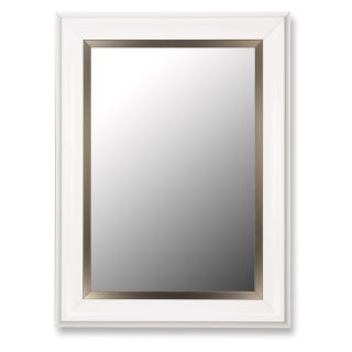 Glossy White Grande with Champagne Wall Mirror   Wall Mirrors