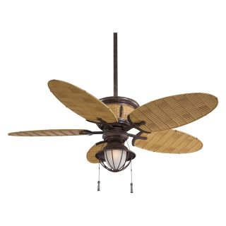 Minka Aire F580 VR/BB Shangri La 52 in. Indoor / Outdoor Ceiling Fan   Vintage Rust   Outdoor Ceiling Fans