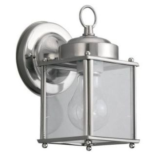 Sea Gull Outdoor Wall Light   8.25H in. Antique Brushed Nickel   Outdoor Wall Lights