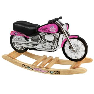 KidKraft Harley Davidson Pink Softail Rocker   Rocking Vehicles