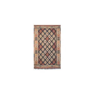 "9' x 12' Rectangular Safavieh Area Rug KM808A 9 Flatwoven India ""Kilim Collection""   Handmade Rugs"