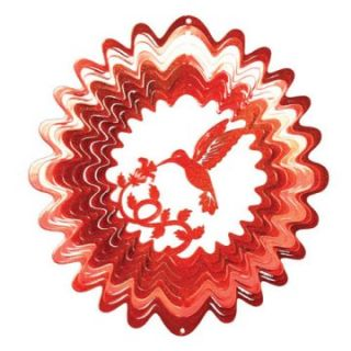Iron Stop Classic Red Hummingbird Wind Spinner   Wind Spinners