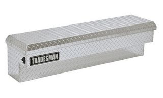 Tradesman Aluminum Side Mount Truck Box with Push Button Latch   Truck Tool Boxes