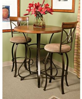 Powell Hamilton 3 piece Pub Set with Swivel Stools   Pub Tables