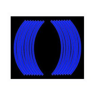 "2 Sets X Motorcycle Wheel Rim Reflective Decal Tape Sticker Wheel Rim Tape for 18"" Rim Blue Color Automotive"