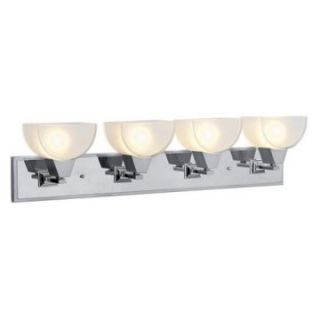 Livex Soho 1094 95 Vanity Light   Brushed Nickel Finish with Chrome Finish Insert   35.5W in.   Bathroom Lighting