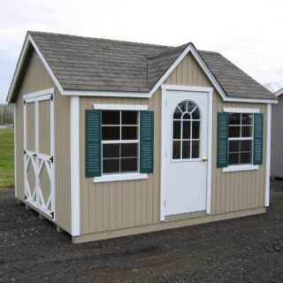 Little Cottage 12 x 10 ft. Classic Wood Cottage Panelized Storage Shed   Storage Sheds