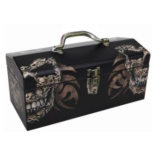 Sainty International 24 031 Art Deco Old Black Skulls Tool Box   Tool Boxes