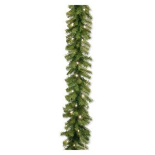 9 ft. Norwood Fir Pre Lit LED Garland   50 Bulbs   Christmas Garland