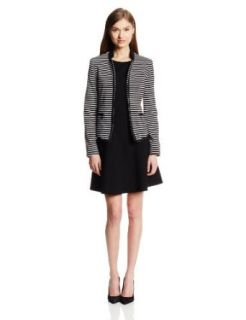 Anne Klein Women's Stripe Ponte Jacket