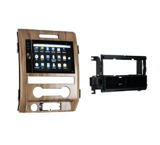 OTTONAVI Ford F 150 2011+ GPS Navigation Android Radio with Drape Walnut Dash Kit  In Dash Vehicle Gps Units  GPS & Navigation