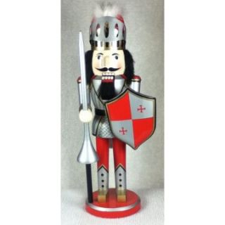 Horizons East Red and Silver Knight Nutcracker   Nutcrackers
