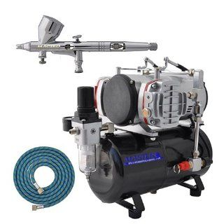 MASTER Airbrush G44 with AirBrush Depot TC 828 Twin Piston Air Compressor w/ Tank