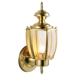 Design House Jackson Outdoor Uplight   Solid Brass   Outdoor Wall Lights
