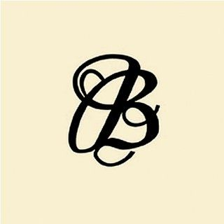Embroidered Fabric Luggage Tag   Letter B in Black by Mud Pie