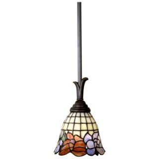 Dale Tiffany Birbridge Mini Pendant Light   45H in. Bronze   Tiffany Ceiling Lighting