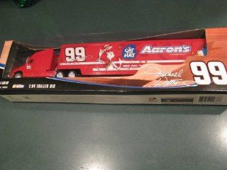 2004 Michael Waltrip #99 Aaron's The Cat in the Hat Special Paint Scheme Monte Carlo 1/64 Scale Hauler Tractor Trailer Truck Semi Rig Transporter 1/64 Scale Metal Cab Tractor Plastic Trailer Winners Circle Toys & Games
