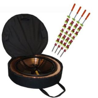 Portable Folding Fire Pit with FREE Set of 4 Grill Skewers   Fire Pits