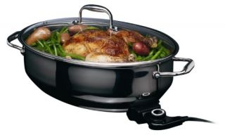 Deni 8410 13.25 qt. Stainless Steel Electric Roaster   Electric Skillets