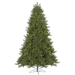 7.5' Pre Lit Ontario Spruce Artificial Christmas Tree  Multi Color Dura Lights   Christmas Tree Prelit Multi Color