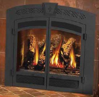 Napoleon GD70 Gas Fireplace Faceplate Door Kit with Upper and Lower Ornamental Insets   Fireplace Accessories