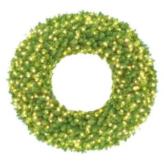 Sequoia Pre Lit LED Christmas Wreath   Christmas Wreaths