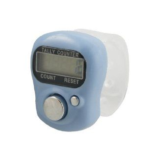 Light Blue Case 5 Digit LCD Electronic Finger Counter Hand Tally   Moisture Meters