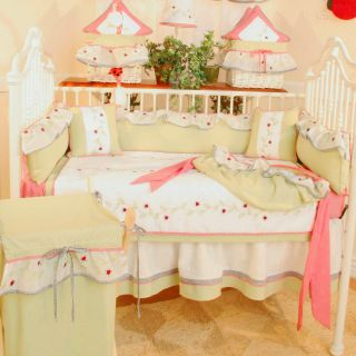 Brandee Danielle Red Ladybugs 4 Piece Crib Bedding Set   Baby Bedding Sets