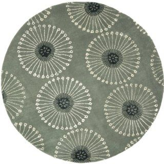Safavieh Soho Collection SOH821C Handmade Grey New Zealand Wool Round Area Rug, 6 Feet