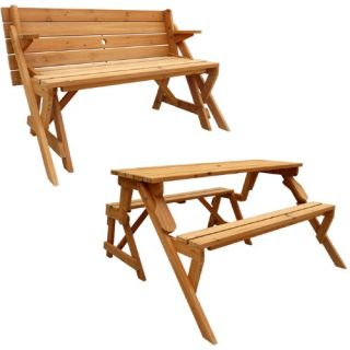 Leisure Season Folding Picnic Table and Bench   Picnic Tables