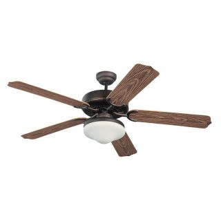Monte Carlo 5WF52RBD L Weatherford Deluxe 52 in. Indoor / Outdoor Ceiling Fan   Roman Bronze   Ceiling Fans