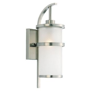 Sea Gull Eternity Outdoor Wall Light   17.5H in. Brushed Nickel   Outdoor Wall Lights