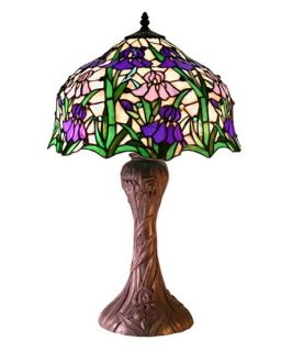 Tiffany Style Iris Table Lamp   Table Lamps