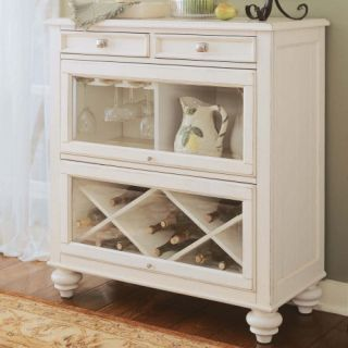American Drew Camden Bookcase/Sideboard   White   Wine Furniture