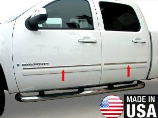"2010 2013 Chevy Tahoe/GMC Yukon Rocker Panel Chrome Stainless Steel Body Side Moulding Molding Trim Cover Top 1"" Wide 4PC Automotive"
