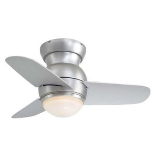 Minka Aire F510 BS Spacesaver 26 in. Indoor Ceiling Fan   Brushed Steel   Ceiling Fans